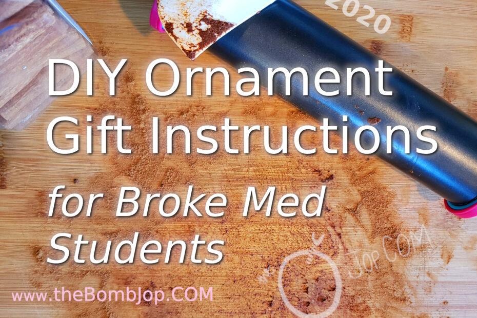 2020 DIY Ornament Gift Instructions for Broke Med Students www.thebombjop.com